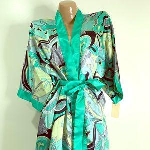 VTG VANITY FAIR ROBE Kimono Second Skin Satin NOS